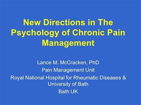 directions   psychology  chronic pain management