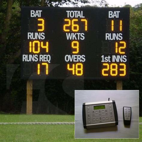 Electronic Cricket Club Ground Scoreboard Fitness Sports