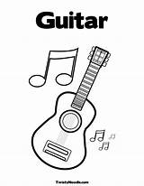 Coloring Guitar Pages Music Notes Printable Electric Sheets Musical Colouring Guitars Clipart Note Twistynoodle Instruments Templates Shania Twain Preschool Getcoloringpages sketch template
