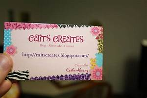 Caits creates preparing for the craft show for Craft business card ideas
