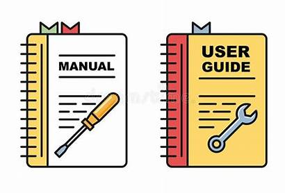Manual Instructions User Guide Clipart Spiral Icons