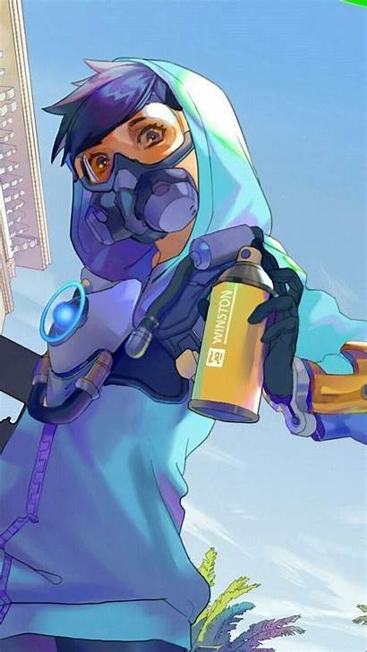 Tracer Overwatch Graffiti Anime Comic Fan Wallpapers