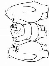 Bears Bare Coloring sketch template