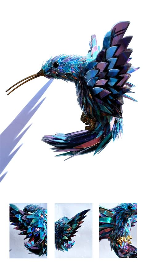 Stunning Sculptures Made From Discarded Cd Fragments stunning sculptures made from discarded cd fragments