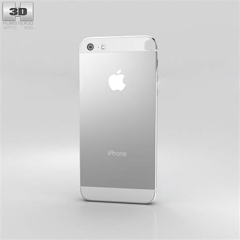 iphone 5s white apple iphone 5s silver white 3d model hum3d