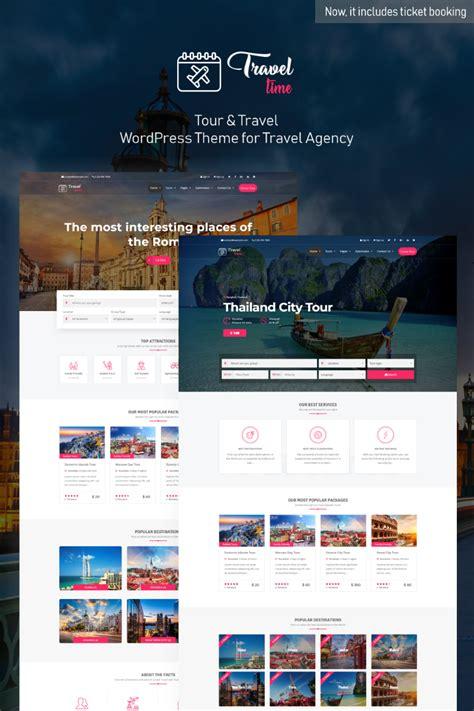traveltime complete  travel agency wordpress theme