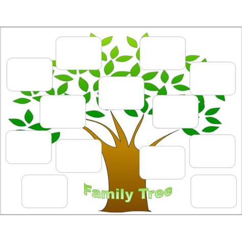 If your child is curious to know about your family in detail and asking for the names of your uncle, aunt, and cousins then this template is a perfect one for you. Family Tree Template   Fotolip.com Rich image and wallpaper