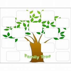 create a family tree with the help of these free templates With plain family tree template