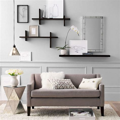 livingroom shelves 16 ideas for wall decor wall shelving shelving and living rooms