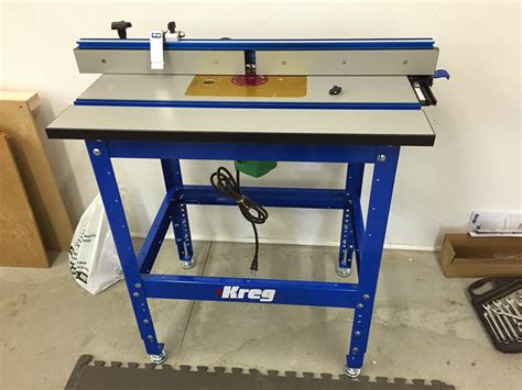 lift  kreg router table general woodworking