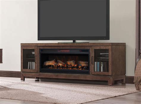 media fireplace tv stand 76 quot berkeley mahogany infrared media electric fireplace 7417