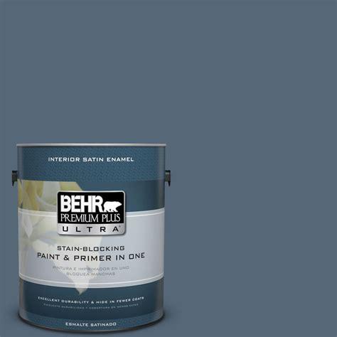 behr premium plus ultra 1 gal s510 6 durango blue satin enamel interior paint 775301 the