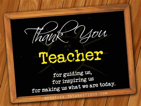 Thank You Messages For Teachers 365greetingscom