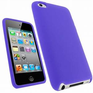iGadgitz Purple Silicone Skin Case Cover for Apple iPod ...
