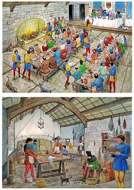 les banquets au moyen age au moyen age cuisine fran 231 aise