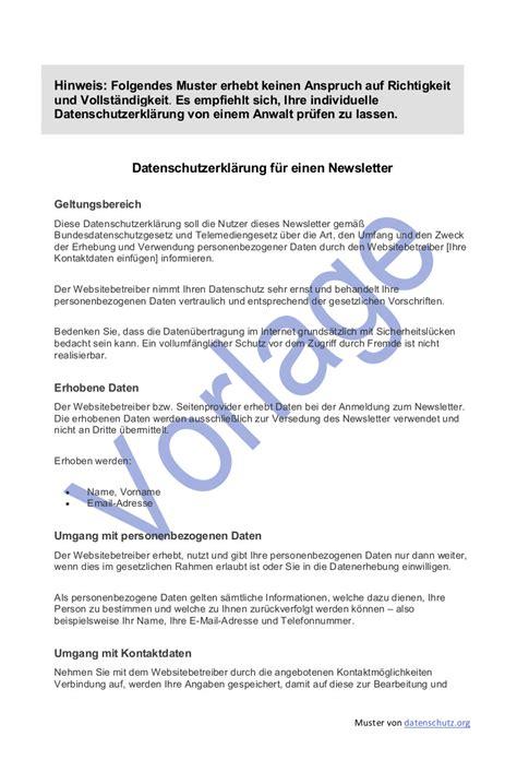 datenschutz beim newsletter versand  datenschutz