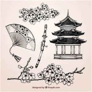 Maison Japonaise Dessin : dessin japonais vecteurs et photos gratuites ~ Melissatoandfro.com Idées de Décoration