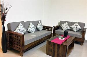 Four Square Wooden sofa - Sofas - Living Room