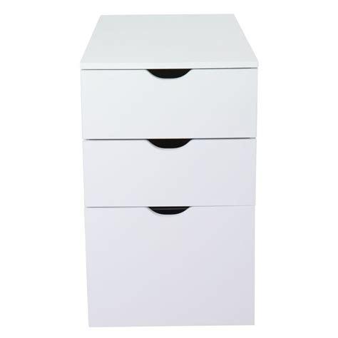 alinea rangement bureau caisson de bureau 3 tiroirs blanc l30xh70xp70cm gothan