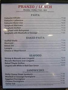 Regular Lunch Menu - Picture of Mona Lisa Italian ...