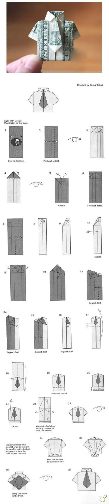 origami geldgeschenk hemd mit krawatte geldgeschenk