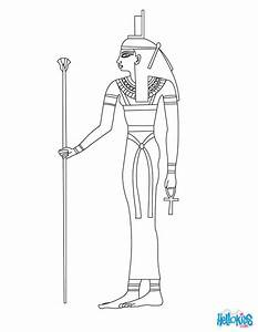 egyptian coloring pages - isis egyptian goddess coloring pages