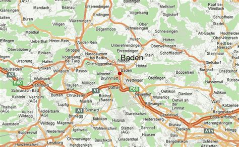 Note that the postal code may be searched with nearby approximation. Baden Location Guide