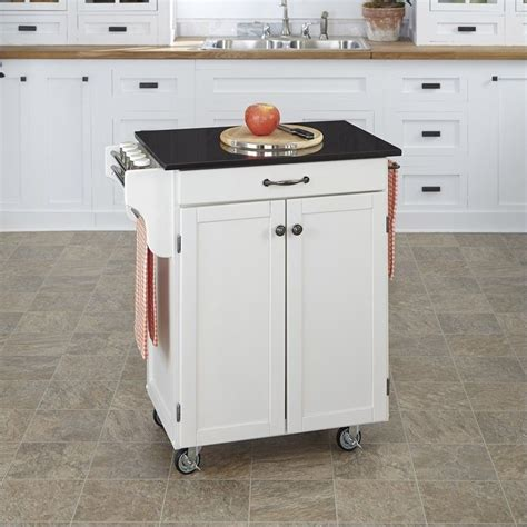 white wood kitchen cart with granite top 9001 0024
