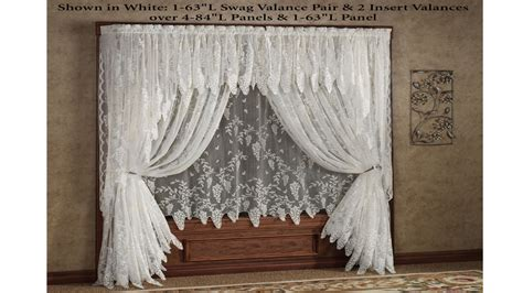 kitchen valance ideas lace curtains country