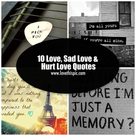 love sad love hurt love quotes