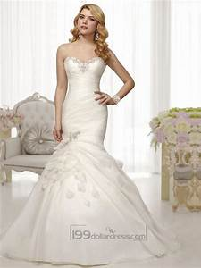 trumpet mermaid beaded sweetheart pleated bodice wedding With mermaid trumpet wedding dresses