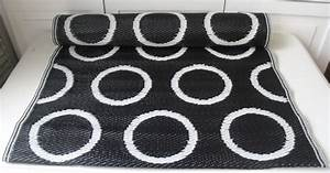 Läufer Schwarz Weiß : pvc outdoor teppich l ufer moritz schwarz wei 75x200 cm flickenteppich flickenteppiche ~ Orissabook.com Haus und Dekorationen