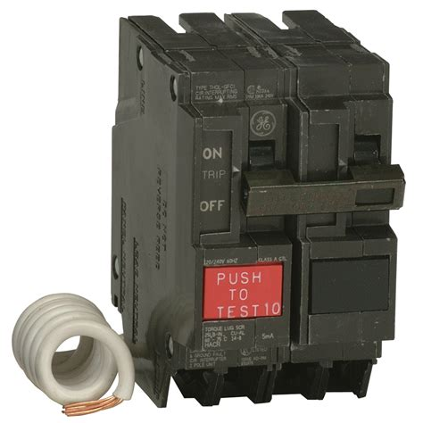 gfci circuit breaker shop ge q line thql 20 amp 2 pole gfci circuit breaker at lowes com
