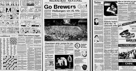 Milwaukee Journal And Sentinel Newspaper Archives Are Back