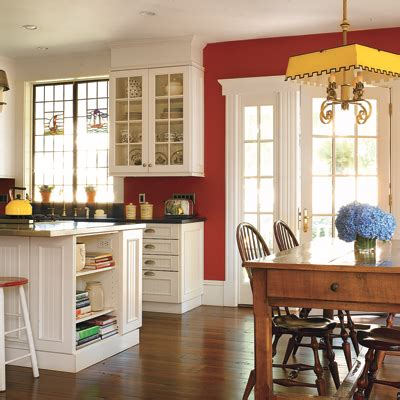 red kitchen walls with white cabinets the lasnick family celebrating the first meal in a new