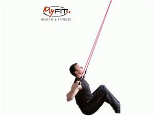 Exercise Band Back Lat Pulldowns Exercise | MyFit