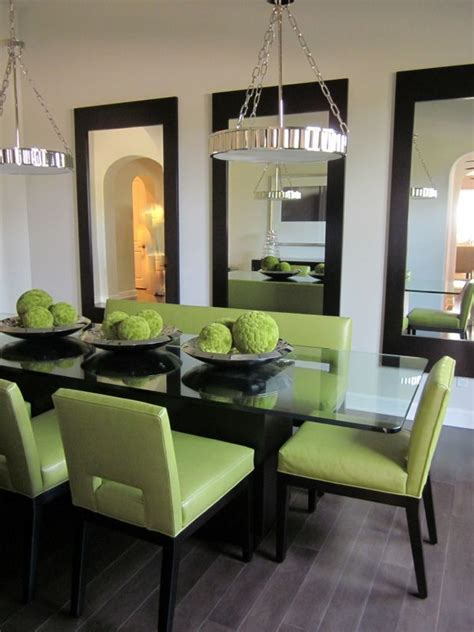 mirrors  multiples home decor green dining room
