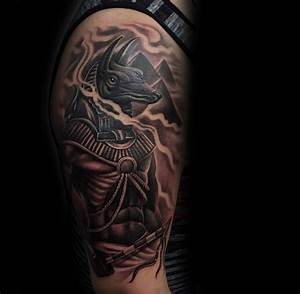 100 Anubis Tattoo Designs For Men - Egyptian Canine Ink Ideas
