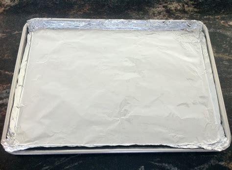 baking foil sheet lined line cooking