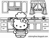 Coloring Kitty Hello Kitchen Sheets Printable Cooking Oven Teenage Printables Drawing Pie Apple Simple Tasty Pretty Cool Cartoons Disney Cartoon sketch template