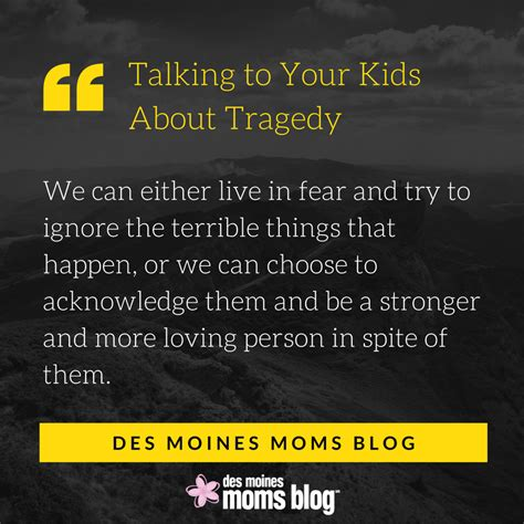 talking   kids  tragedy des moines moms blog