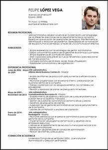 Modelo Curriculum Vitae Jefe Administrativo