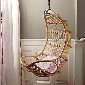 Fauteuil Suspendu Osier : la chaise suspendue vous offre un confort amusant ~ Teatrodelosmanantiales.com Idées de Décoration