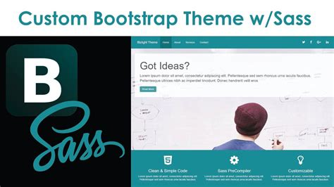 Custom Bootstrap Theme With Sass Racerlt