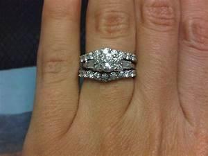 post pics of your double band wedding set weddingbee With double band wedding ring