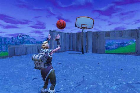 fortnite marquer des paniers de basket emplacement des