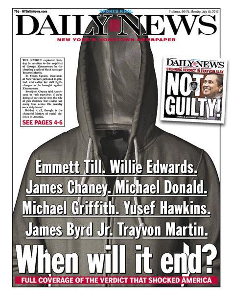NY Daily News' Powerful Trayvon Martin Front Page (PHOTO ...