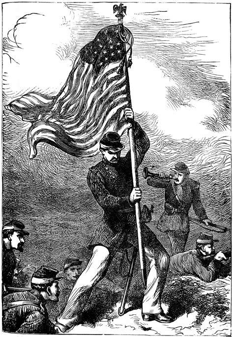 planting   flag clipart