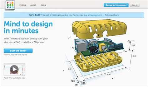 autodesk acquires tinkercard  browser based cad tool