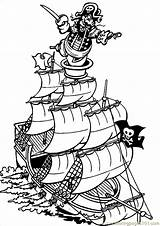 Coloring Pirate Pages Ship Pirates Printable Miscellaneous Sheets Ships Theme Colouring Sheet Sunken Clipartmag Kid Drawing Luau Cartoons Misc Treasure sketch template